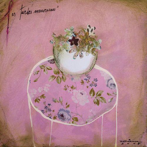 les tardes menorquines. Obra sobre tela de Fina Veciana.