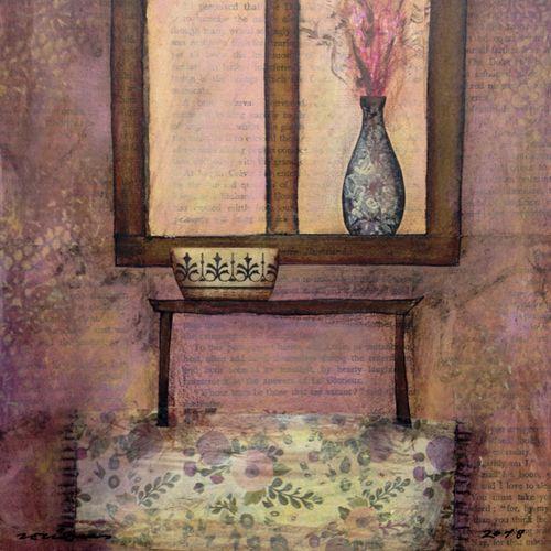 recolliment. Obra sobre tela de Fina Veciana.
