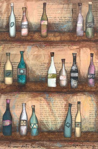 el cau dels tresors. Obra sobre tela de Fina Veciana.