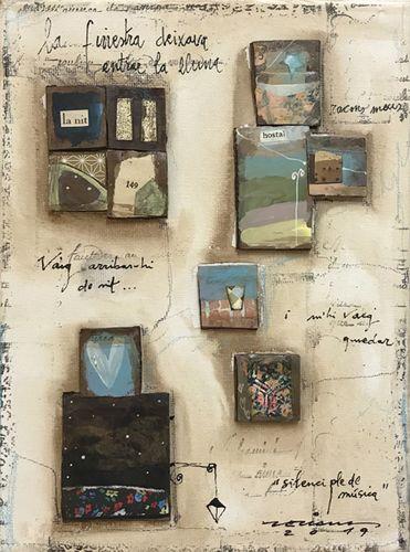 habitació 149. Obra sobre tela de Fina Veciana.