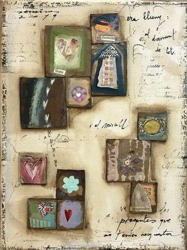 les respostes del mirall. Obra sobre tela de Fina Veciana.