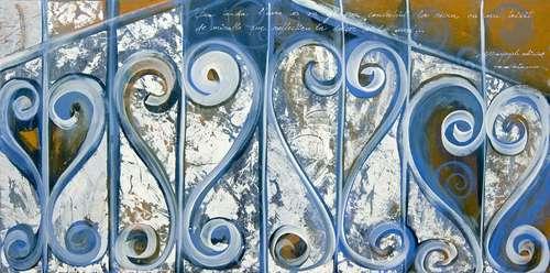 gel amb mel obra sobre fusta Fina Veciana