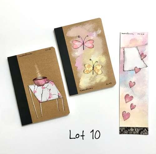 Lot 10 llibretes i punt de llibre Fina Veciana