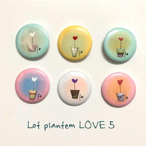 lot plantem LOVE 5 xapes de Fina Veciana