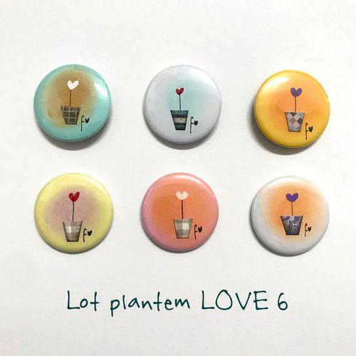 lot plantem LOVE 6 xapes de Fina Veciana