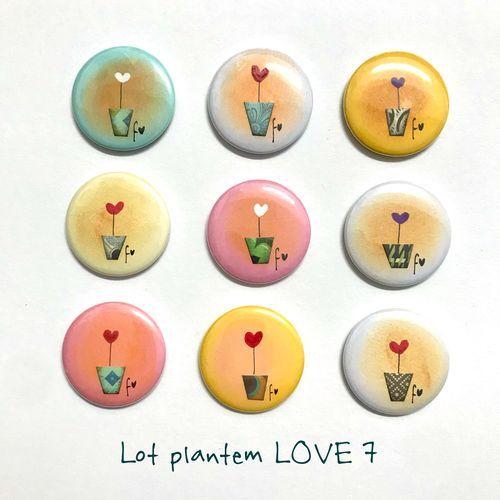 lot plantem LOVE 7 xapes de Fina Veciana