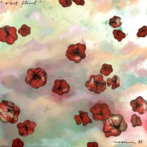 vent floral obra sobre tela Fina Veciana