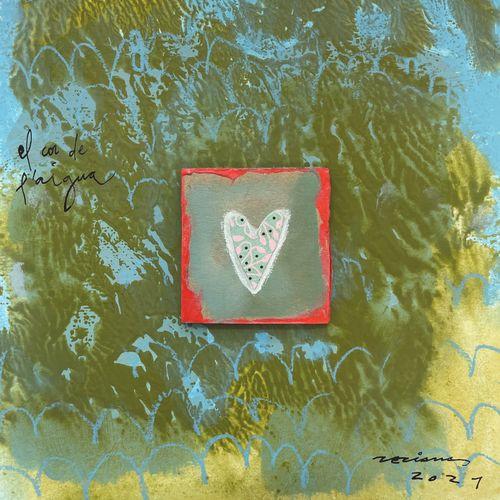 el cor de l'aigua obra sobre paper Fina Veciana