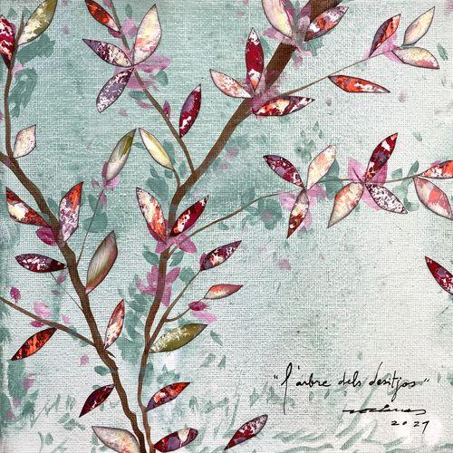 l'arbre dels desitjos obra sobre tela Fina Veciana