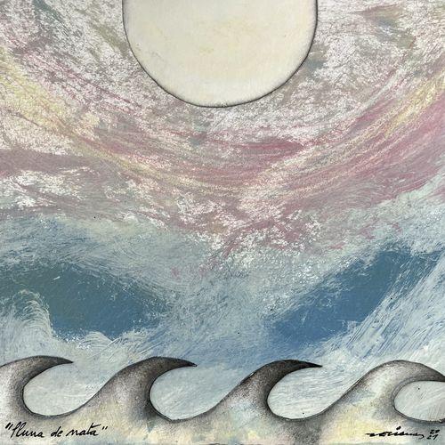 lluna de nata obra sobre paper Fina Veciana