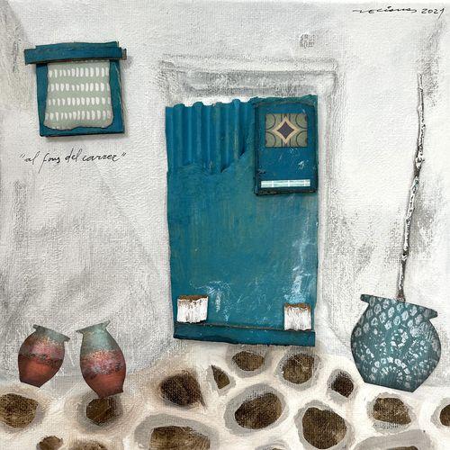 al fons del carrer obra sobre tela Fina Veciana