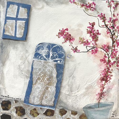 el racó del 71 obra sobre tela Fina Veciana