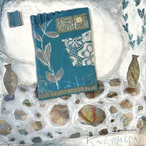 kalimera obra sobre tela Fina Veciana