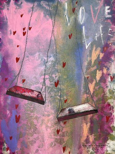 love life obra sobre paper Fina Veciana