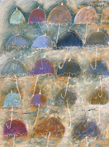 rain on you obra sobre paper Fina Veciana