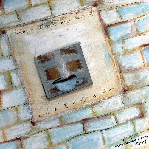 travesso murs amb la ment obra sobre paper Fina Veciana
